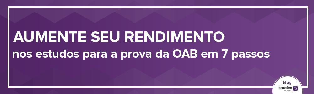 capa Aumente seu rendimento nos estudos para a prova da OAB em 7 passos