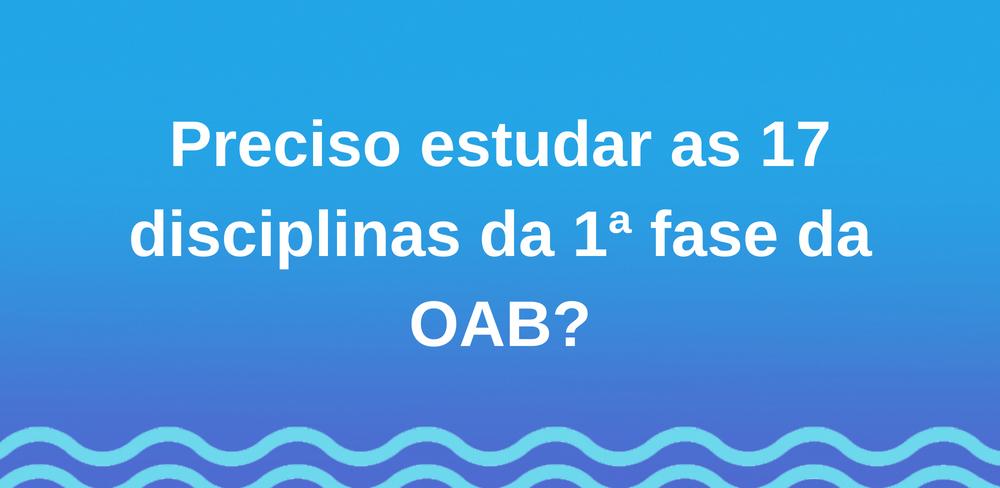 Interdisciplinaridade-OAB