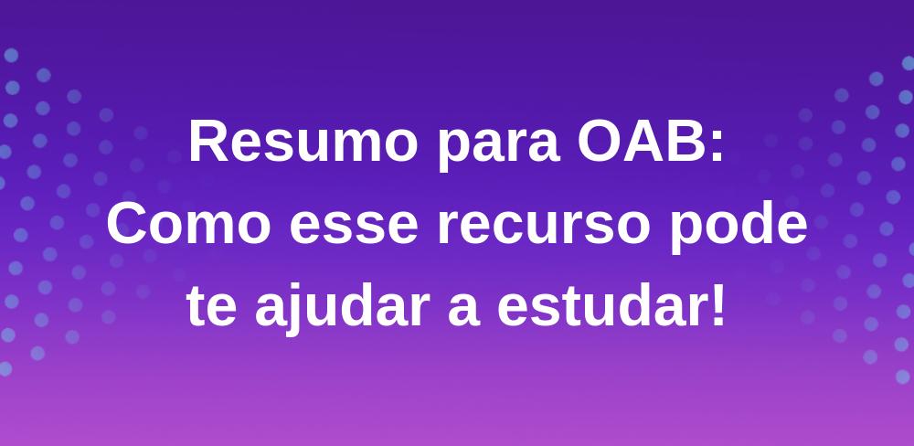 Resumo-oab